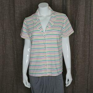 J.Crew Dreamy cotton pajama top in stripe